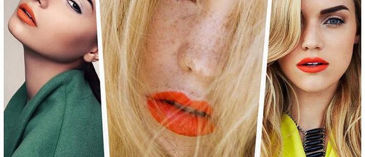 Aprenda a usar o batom laranja de maneira correta