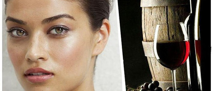 Máscara anti-rugas com vinho tinto