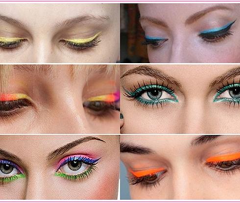 Como usar delineadores coloridos