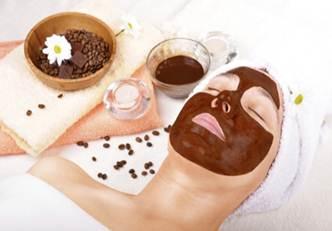 Máscaras faciais de chocolate