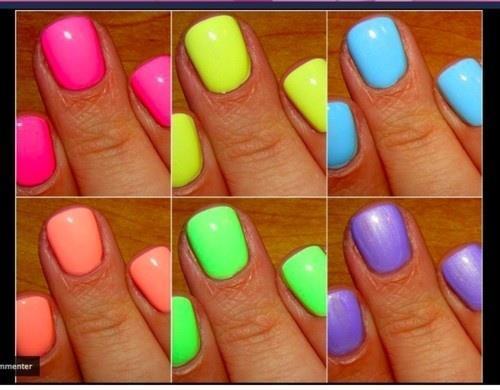 Como usar unhas de cor neon