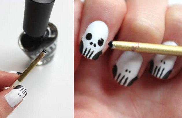 Decoração de unhas para o Halloween