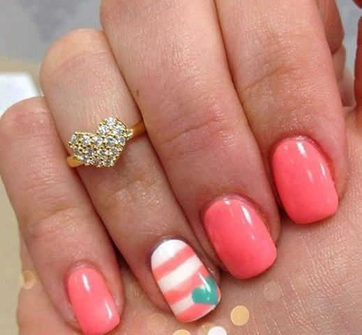 Os 6 melhores desenhos de nail art de listras