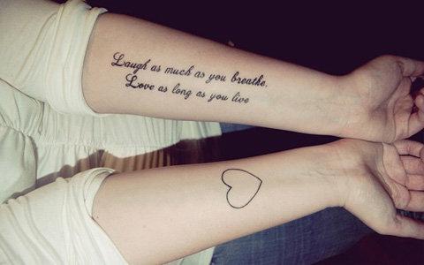 7 tatuagens de casais que simbolizam o amor