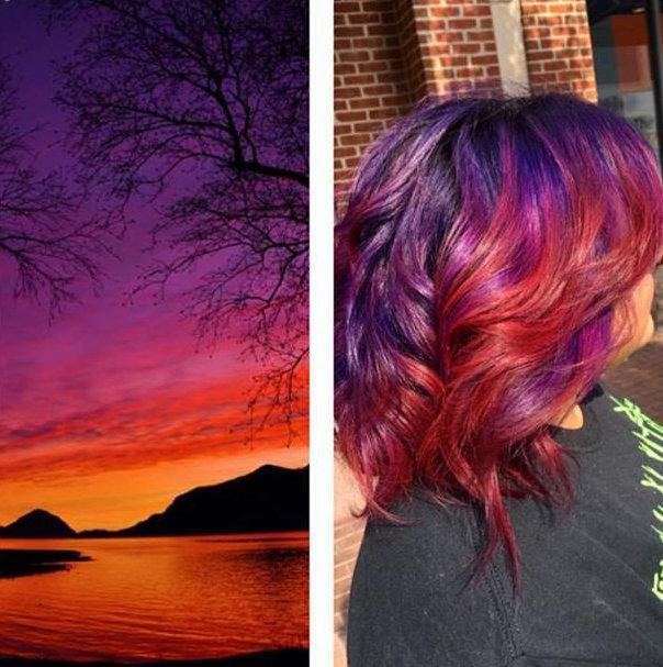 8 estilos cativantes de Sunset Hair para te inspirar