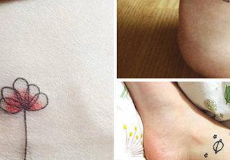 17 tatuagens pequenas nos pés para mulheres mais discretas