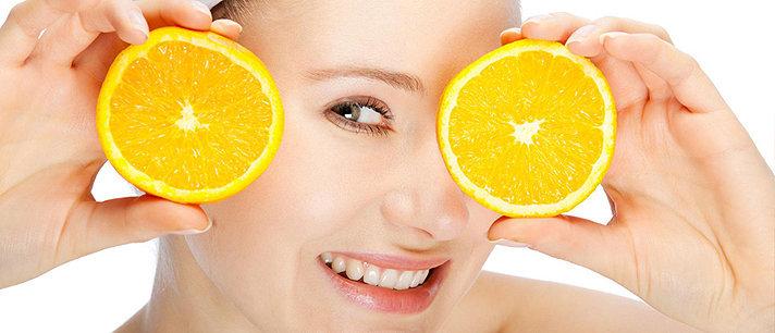 Máscaras enriquecidas com vitamina C