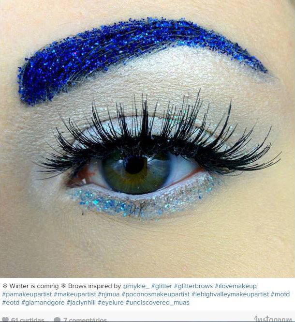 Sobrancelhas com glitter! A nova tendência de beleza no Instagram das gringas