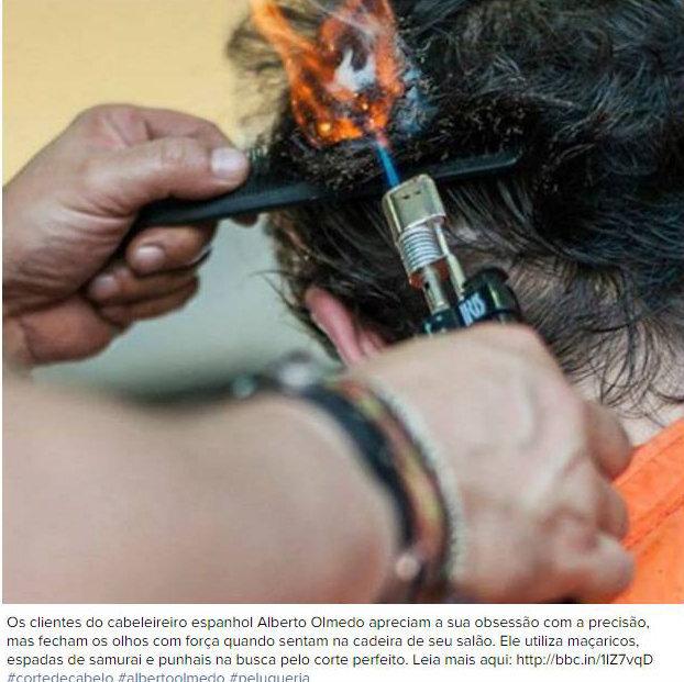 Fogo e espadas: o método para cortar o cabelo que assusta