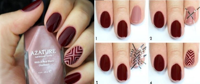 Unhas geométricas, bom gosto em suas mãos!