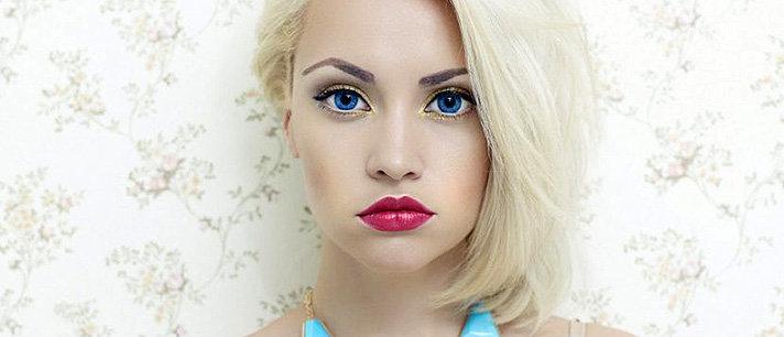 Como potenciar seus olhos azuis com maquiagem