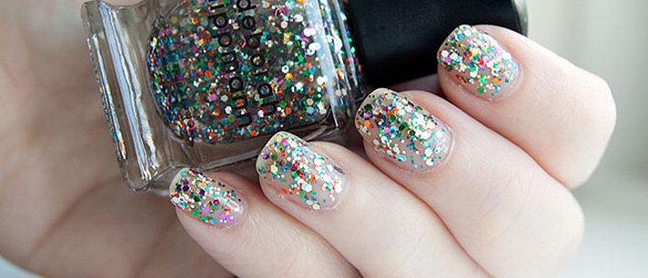 Como aplicar corretamente um esmalte de glitter