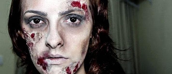 Maquiagem de zumbi para o Halloween