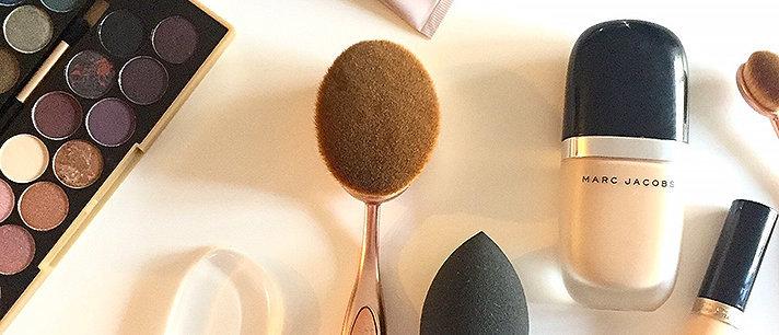 Beauty blender, pincel oval e a esponja de silicone!